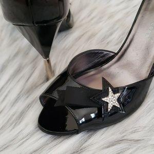 Marc by Marc Jacobs Black Patent Ankle Strap Heals